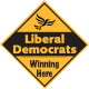 Liberal Democrats Winning Here Sign